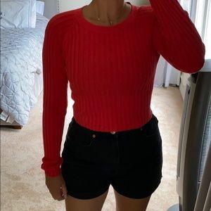 Never worn red crop sweater